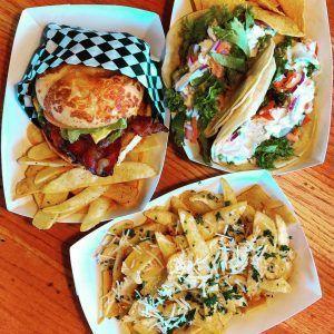 Meatwagon burgers, fries, tacos