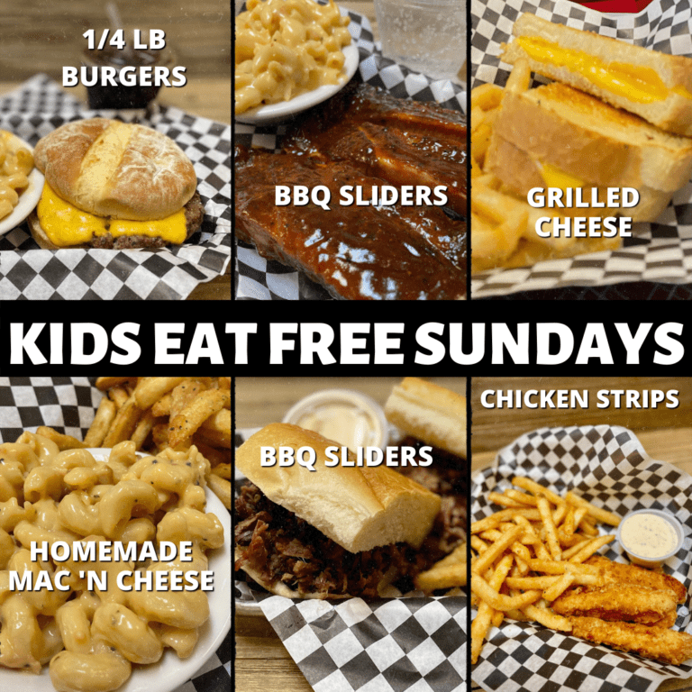 kids eat free every sunday at big daddy's bbq