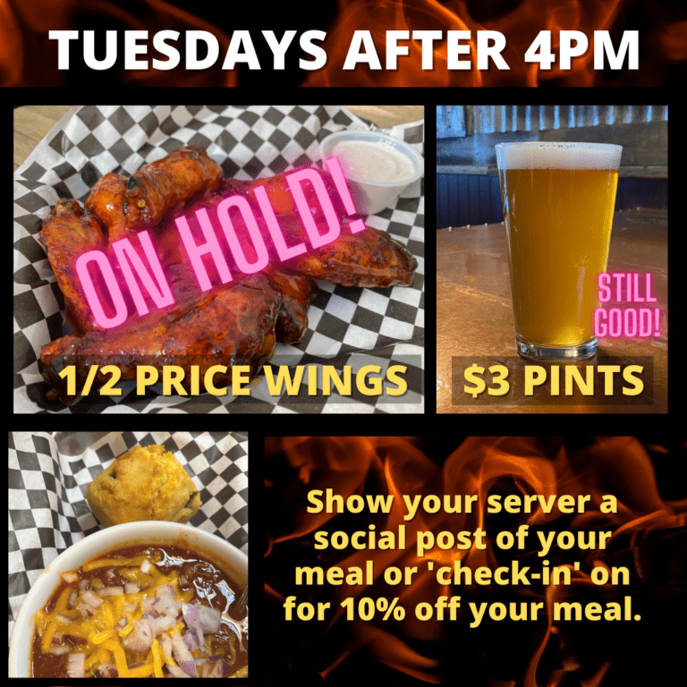 chicken wings draft beers and discounts